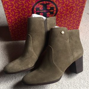 576bbf93ee6 Tory Burch Shoes - SOLD Tory Burch sabe suede bootie sz 8 porcini